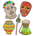 african tribal collection vector image vector image