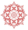 Asian culture inspired feng shui floral shape vector image vector image
