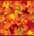 autumn texture floral maple leaves fall seamless vector image vector image