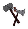axe and tomahawk native american indian weapon vector image vector image