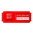 banner best buy up to 20 off online shop i vector image vector image