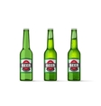 Beer bottles isolated on white vector image vector image