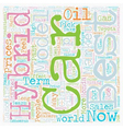 best hybrid cars text background wordcloud concept vector image