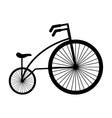 bicycle vehicle style isolated icon vector image vector image