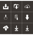 black download icon set vector image vector image