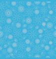 blue flower texture repeat pattern background vector image vector image