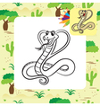 cobra coloring page vector image vector image