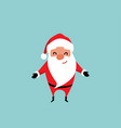 cute christmas santa claus with arms raised for a vector image