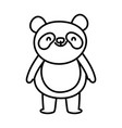 cute little panda cartoon character on white vector image
