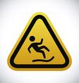 Danger advert design vector image vector image