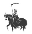 death rides horse vector image vector image