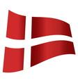 denmark flag vector image