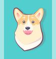 dog emoticon happy puppy vector image vector image