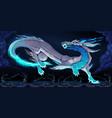 elegant dragon in the night vector image vector image