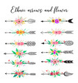 ethnic arrows and flower vector image