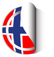 Flag icon design for norway vector image