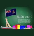 flag of cayman islands on black chalkboard vector image vector image