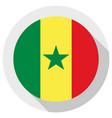 flag senegal round shape icon on white vector image
