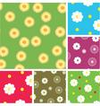flowering pattern vector image