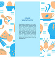food sensitivity banner template in flat style vector image vector image