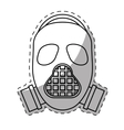 gas mask icon image vector image vector image