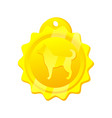 golden medal for dog rounded vector image