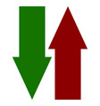 green red up down arrow icons vertical arrows in vector image vector image