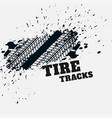 grunge tire mark impression background vector image vector image
