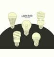 hand drawn light bulb vector image