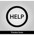Help icon on grey background vector image vector image