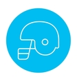 Hockey helmet line icon vector image