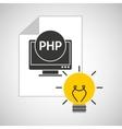 idea code web program php vector image vector image