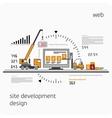 Infographics development site vector image vector image