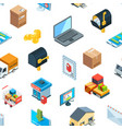 isometric logistics delivery icons pattern vector image