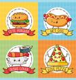 kawaii fast food vector image