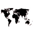 map of the world black silhouette vector image