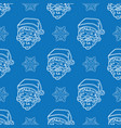 minimalistic christmas blue pattern vector image vector image