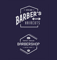 old barbershop emblems and labels vintage male vector image vector image