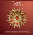 paper graphic of islamic geometric art vector image vector image
