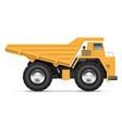 realistic dump truck vector image