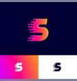 s letter winds movement dynamic logo velocity deli vector image