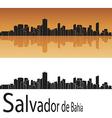 Salvador de Bahia skyline in orange background vector image vector image