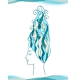 Sea Girl vector image