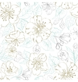 Seamless pattern scatch of spring sakura vector image vector image