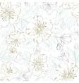 seamless pattern scatch spring sakura vector image