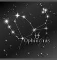 secret symbol of ophiuchus zodiac sign horoscope vector image vector image