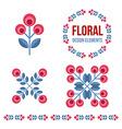 set design elements - retro flowers vector image vector image