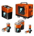 set different batteries and accumulators vector image
