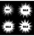 Set of White Grunge Cloud Explosions vector image vector image