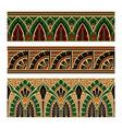 set oriental pattern elements vector image